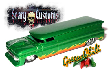 Killer Creation, using FlameStripes..the Green Chili from Jon at Scary Customs!